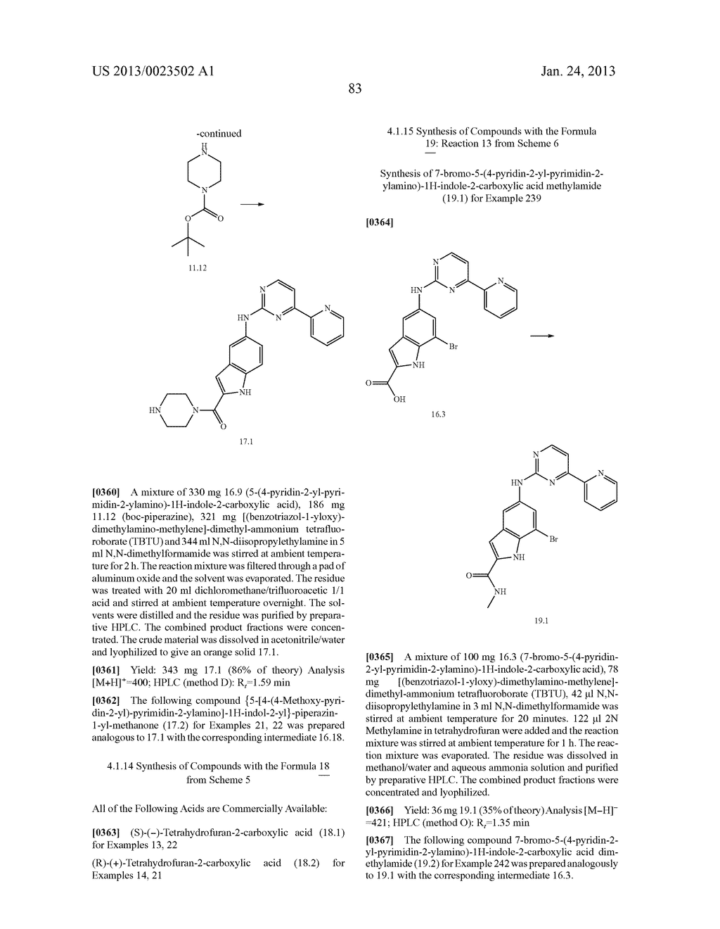 SUBSTITUTED PYRIDINYL-PYRIMIDINES AND THEIR USE AS MEDICAMENTS - diagram, schematic, and image 84