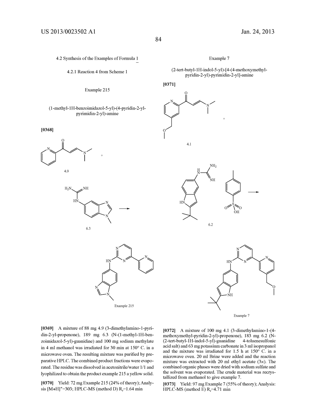 SUBSTITUTED PYRIDINYL-PYRIMIDINES AND THEIR USE AS MEDICAMENTS - diagram, schematic, and image 85