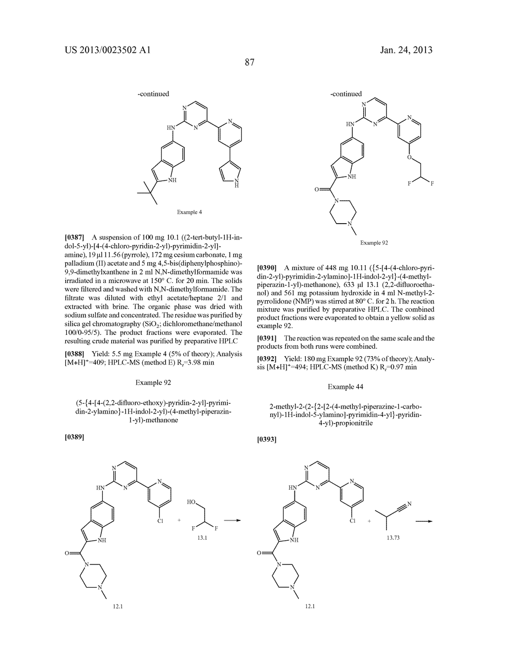 SUBSTITUTED PYRIDINYL-PYRIMIDINES AND THEIR USE AS MEDICAMENTS - diagram, schematic, and image 88