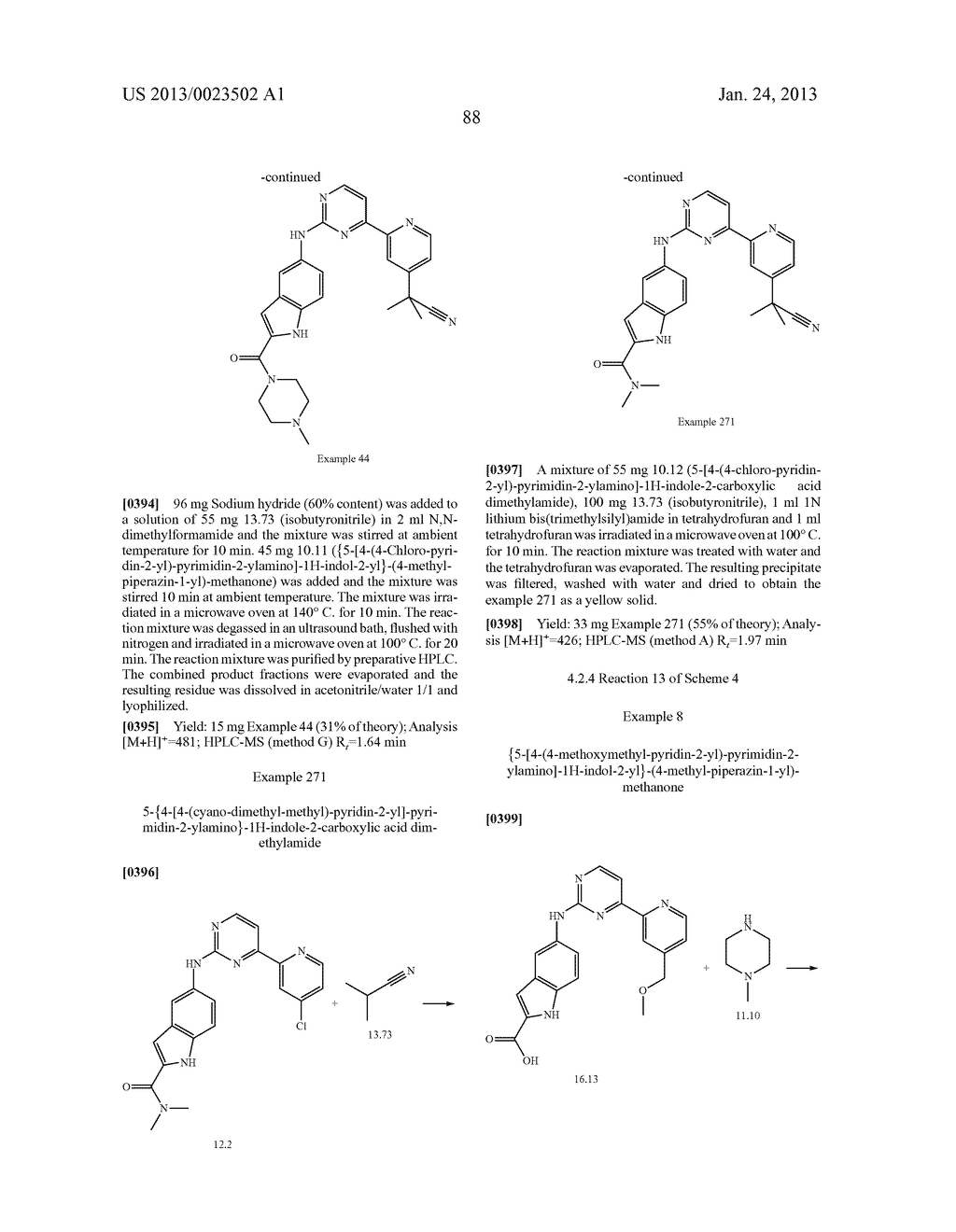 SUBSTITUTED PYRIDINYL-PYRIMIDINES AND THEIR USE AS MEDICAMENTS - diagram, schematic, and image 89