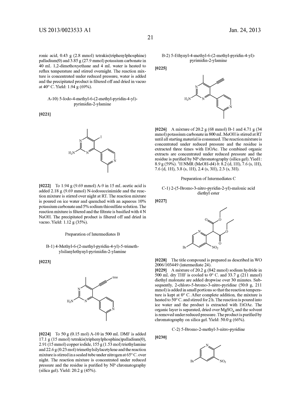 NEW 5-ALKYNYL-PYRIDINES - diagram, schematic, and image 22