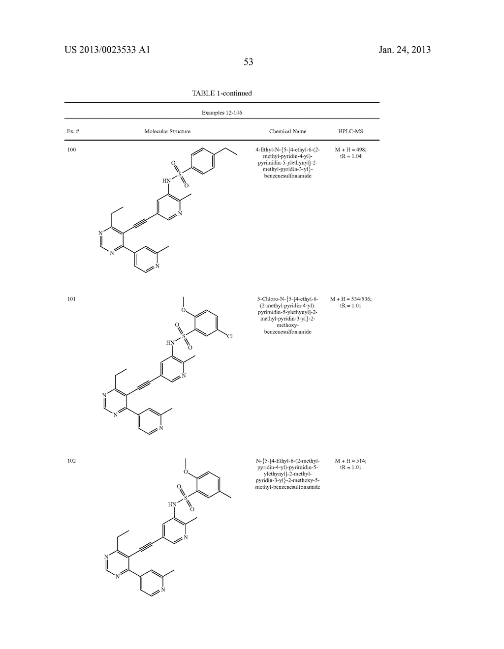 NEW 5-ALKYNYL-PYRIDINES - diagram, schematic, and image 54