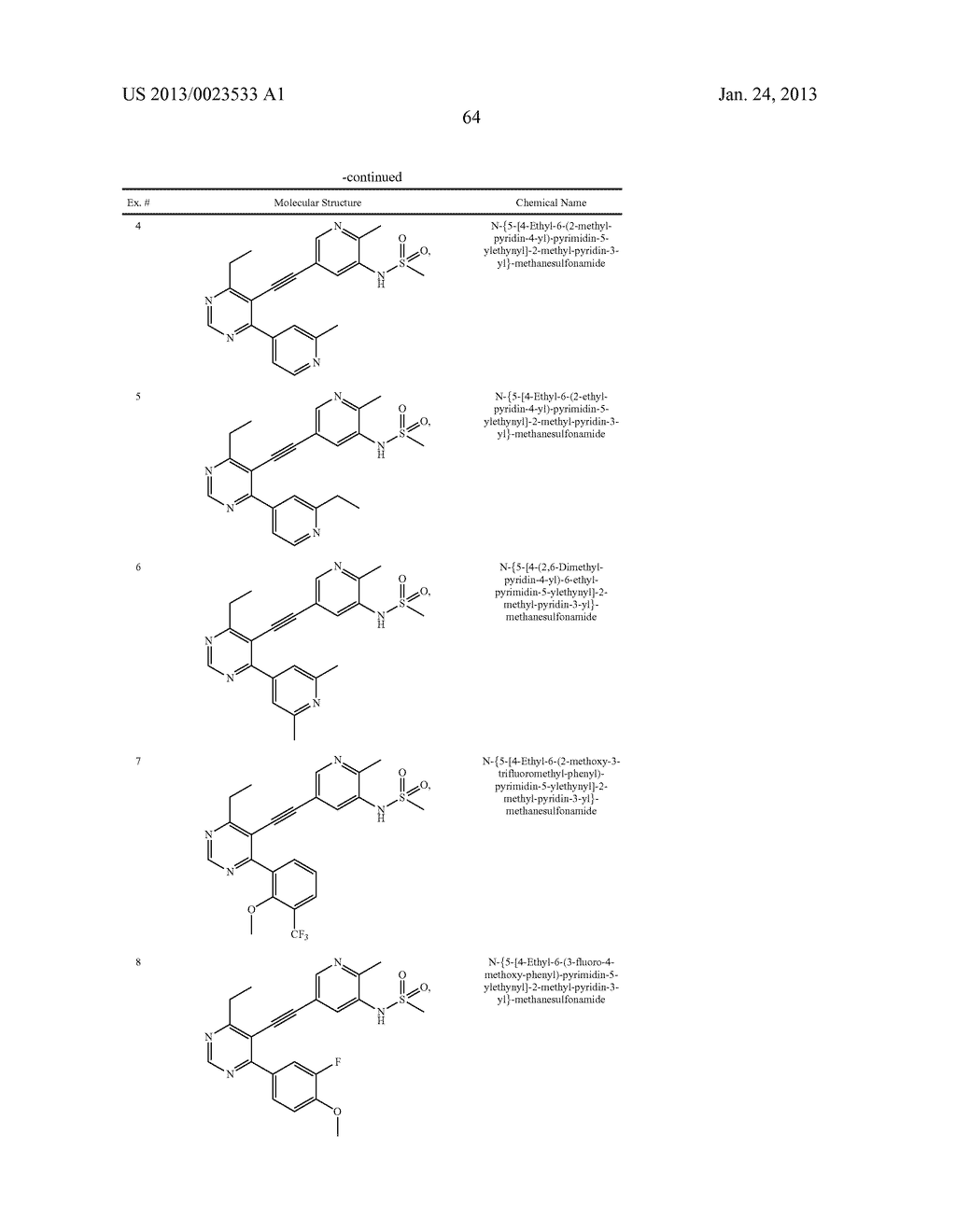 NEW 5-ALKYNYL-PYRIDINES - diagram, schematic, and image 65