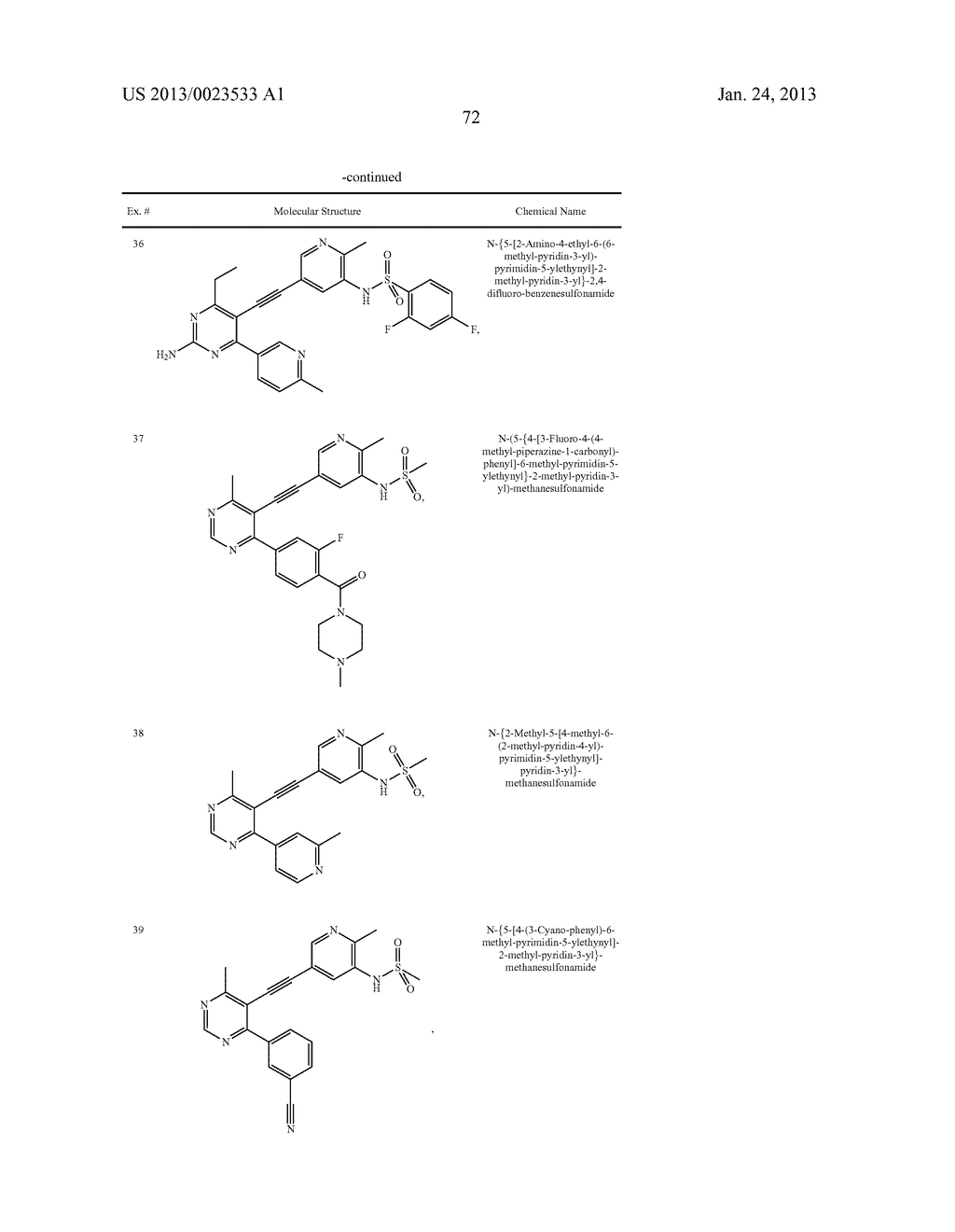 NEW 5-ALKYNYL-PYRIDINES - diagram, schematic, and image 73