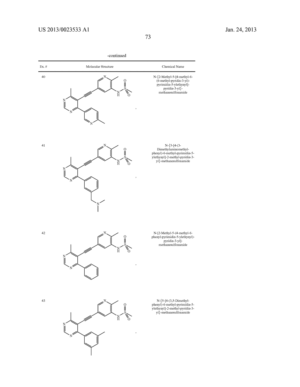 NEW 5-ALKYNYL-PYRIDINES - diagram, schematic, and image 74