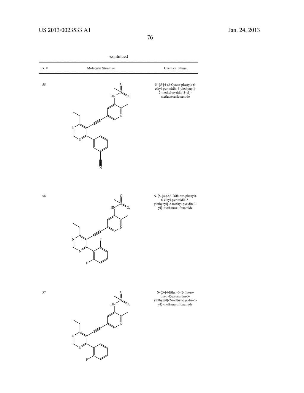 NEW 5-ALKYNYL-PYRIDINES - diagram, schematic, and image 77