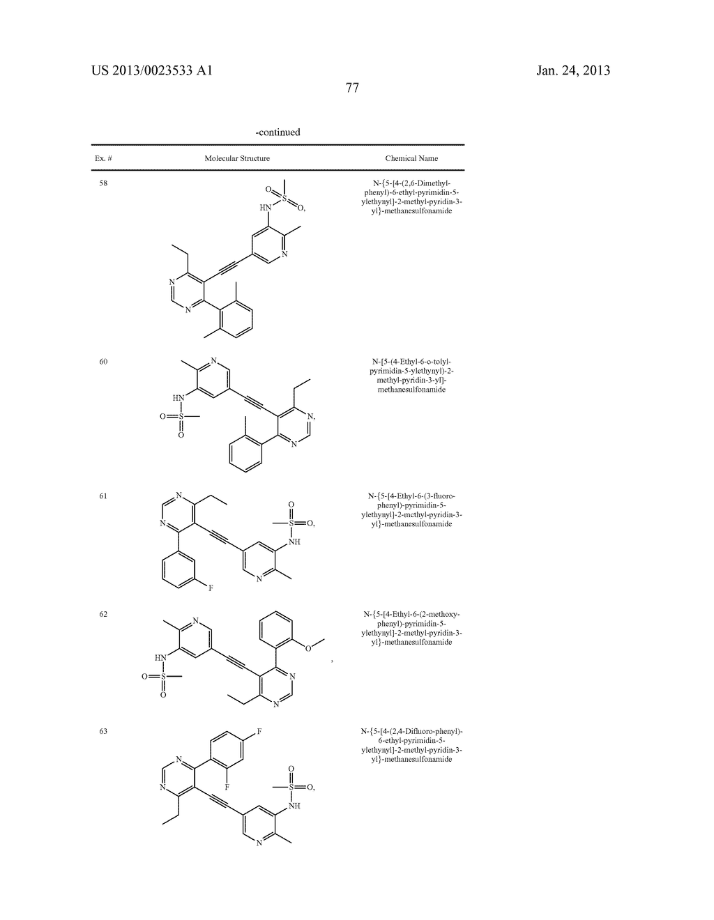 NEW 5-ALKYNYL-PYRIDINES - diagram, schematic, and image 78