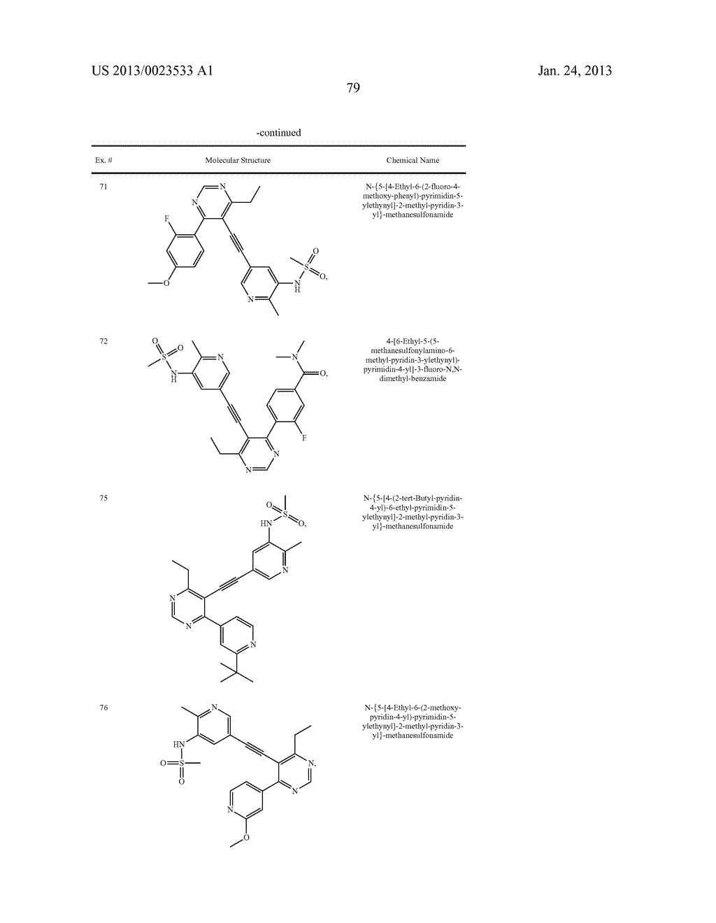 NEW 5-ALKYNYL-PYRIDINES - diagram, schematic, and image 80