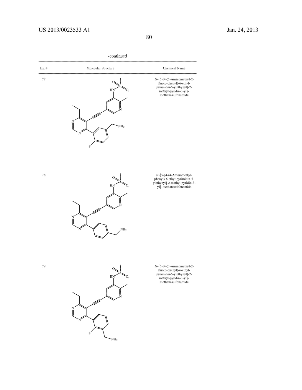 NEW 5-ALKYNYL-PYRIDINES - diagram, schematic, and image 81