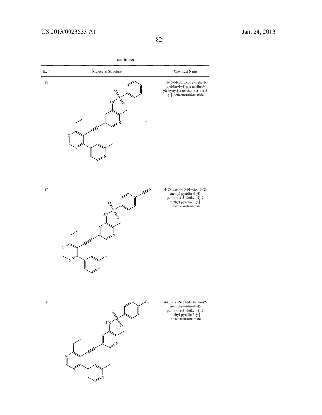 NEW 5-ALKYNYL-PYRIDINES - diagram, schematic, and image 83