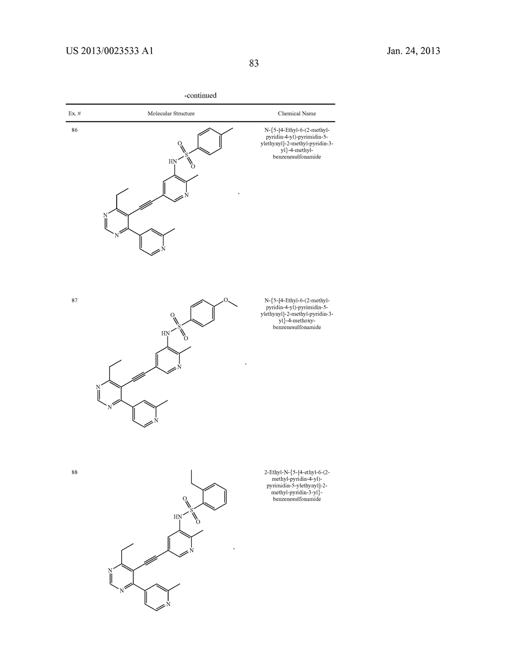 NEW 5-ALKYNYL-PYRIDINES - diagram, schematic, and image 84