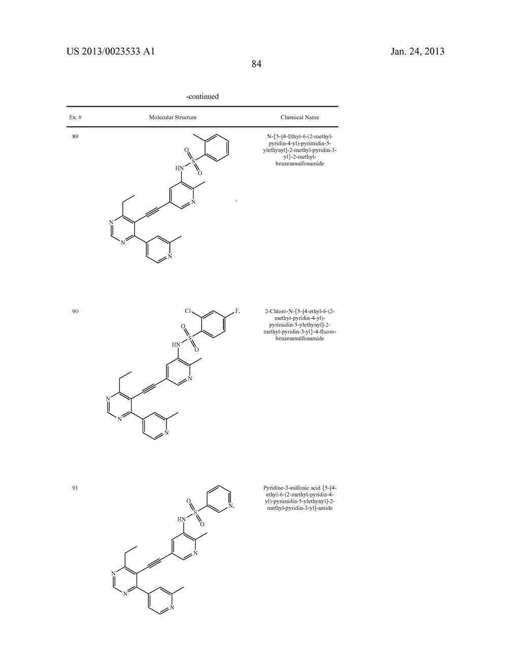 NEW 5-ALKYNYL-PYRIDINES - diagram, schematic, and image 85