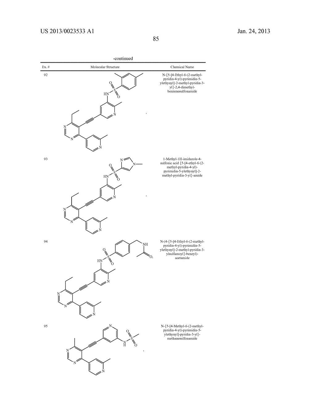 NEW 5-ALKYNYL-PYRIDINES - diagram, schematic, and image 86