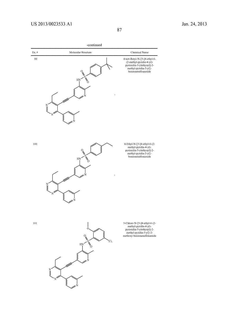 NEW 5-ALKYNYL-PYRIDINES - diagram, schematic, and image 88