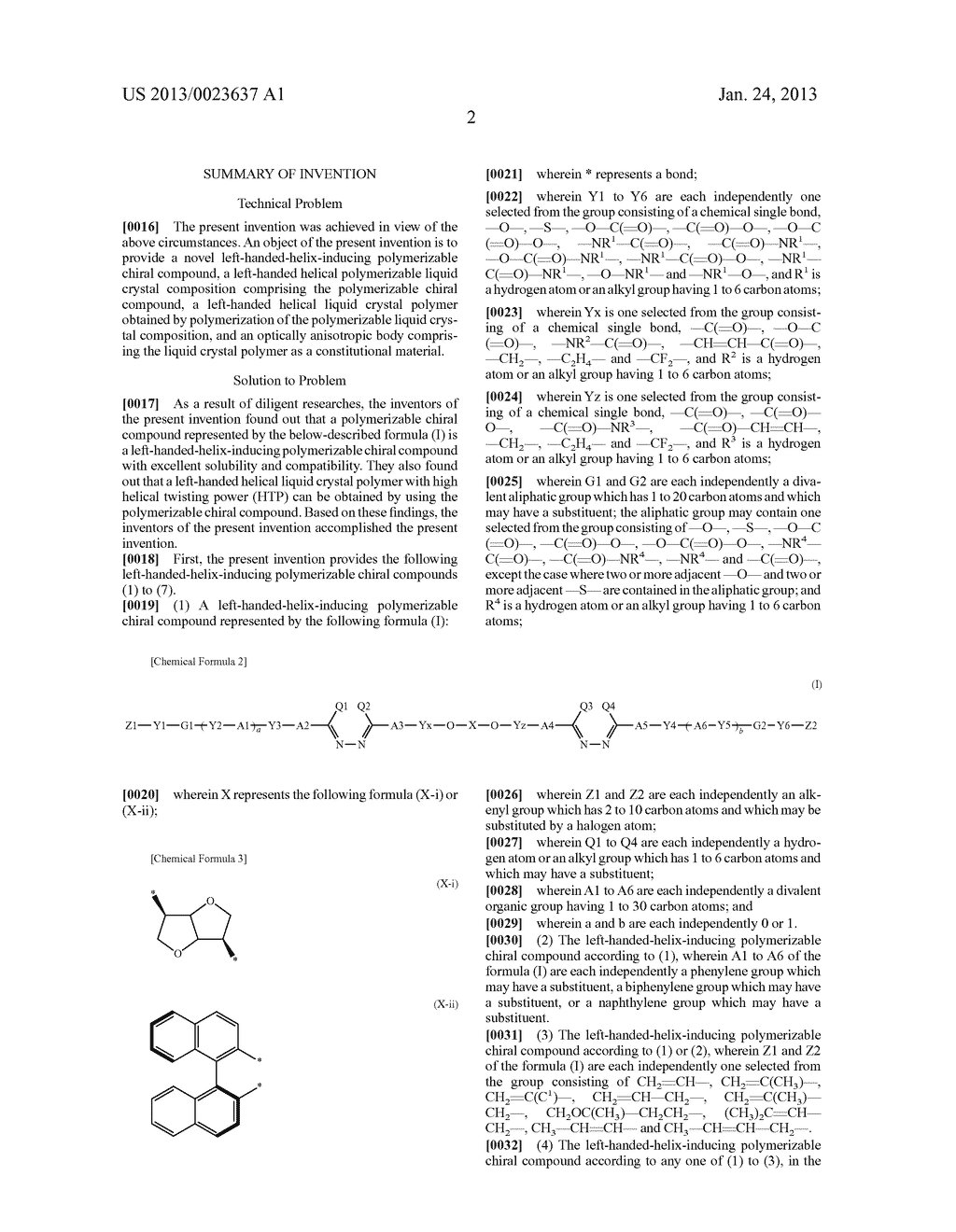 POLYMERIZABLE CHIRAL COMPOUND, POLYMERIZABLE LIQUID CRYSTAL COMPOUND,     LIQUID CRYSTAL POLYMER AND OPTICALLY ANISOTROPIC BODY - diagram, schematic, and image 03
