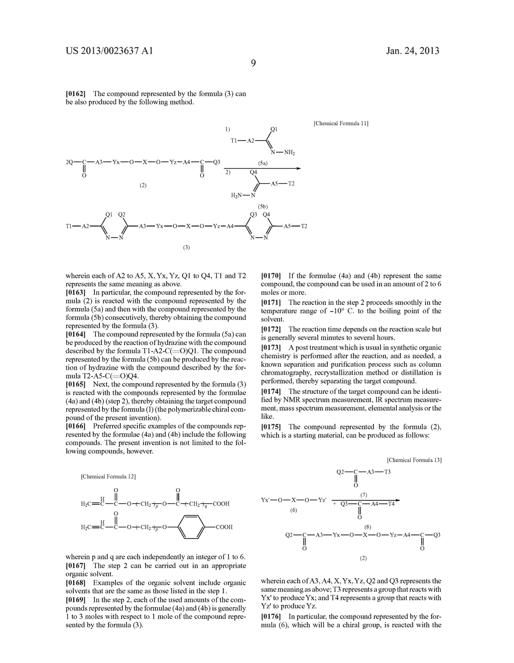 POLYMERIZABLE CHIRAL COMPOUND, POLYMERIZABLE LIQUID CRYSTAL COMPOUND,     LIQUID CRYSTAL POLYMER AND OPTICALLY ANISOTROPIC BODY - diagram, schematic, and image 10