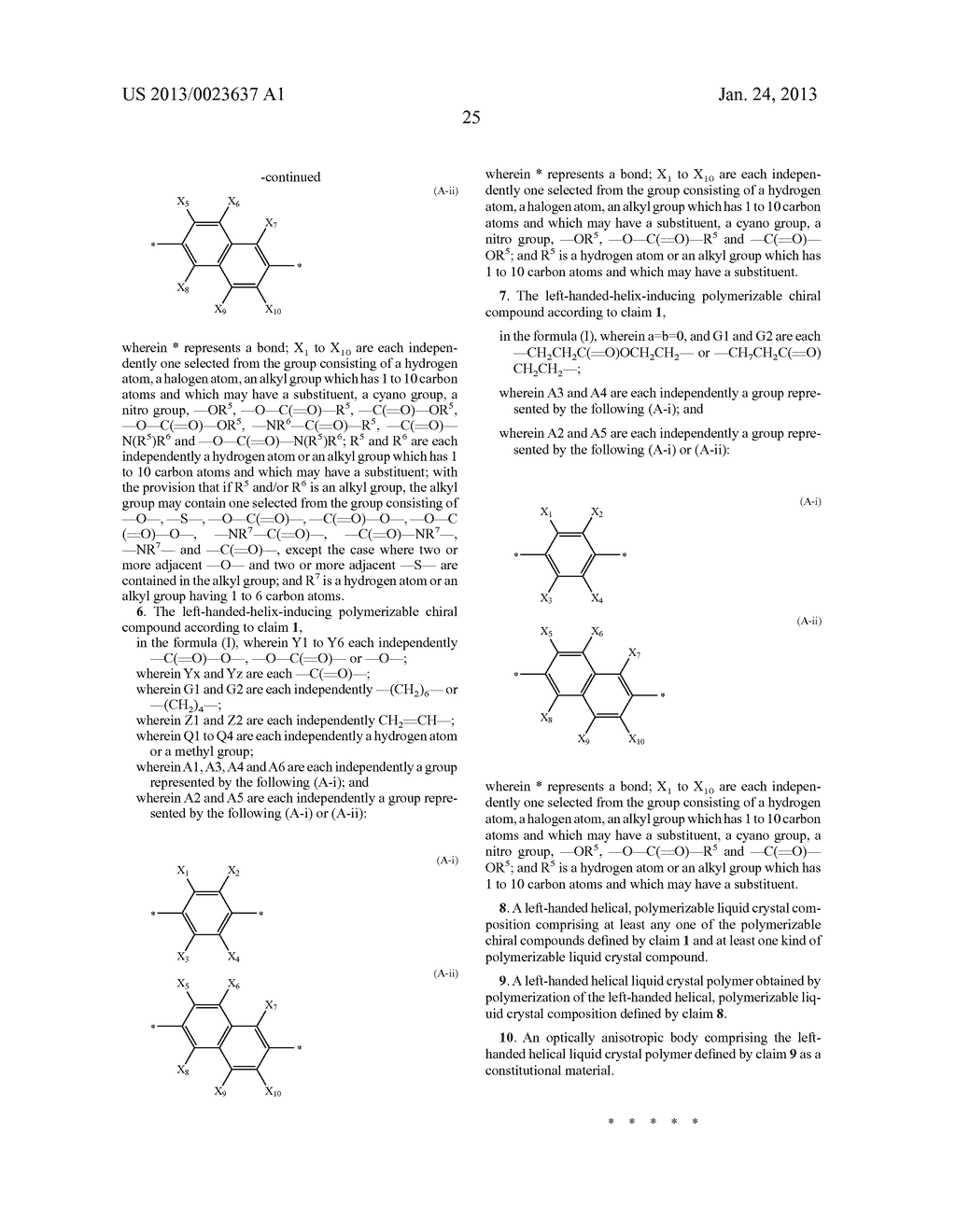 POLYMERIZABLE CHIRAL COMPOUND, POLYMERIZABLE LIQUID CRYSTAL COMPOUND,     LIQUID CRYSTAL POLYMER AND OPTICALLY ANISOTROPIC BODY - diagram, schematic, and image 26