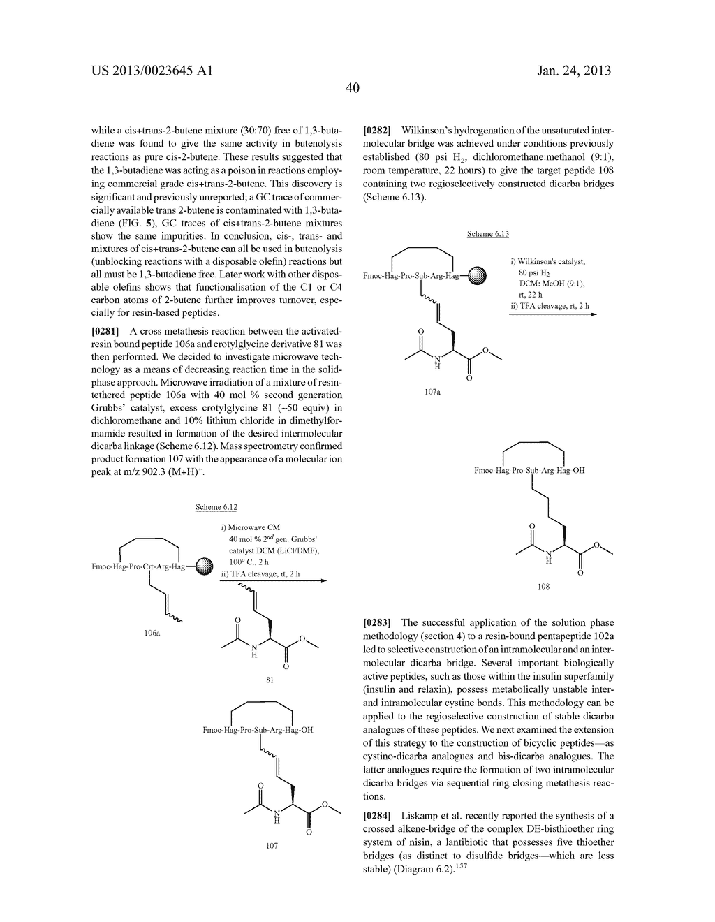 METHODS FOR THE SYNTHESIS OF DICARBA BRIDGES IN ORGANIC COMPOUNDS - diagram, schematic, and image 45