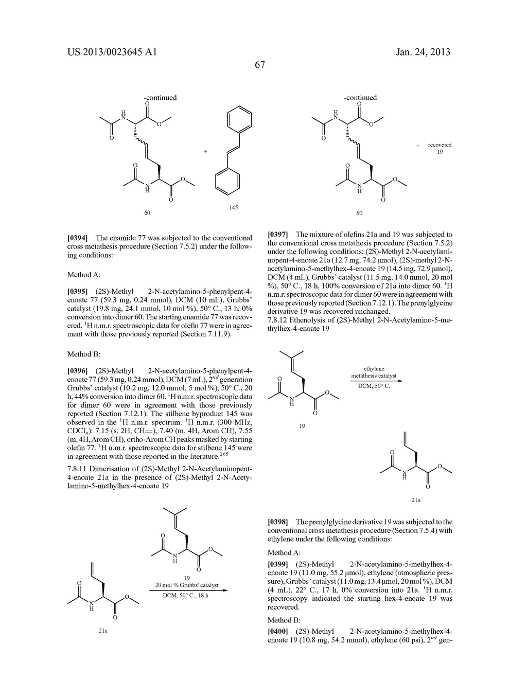 METHODS FOR THE SYNTHESIS OF DICARBA BRIDGES IN ORGANIC COMPOUNDS - diagram, schematic, and image 72