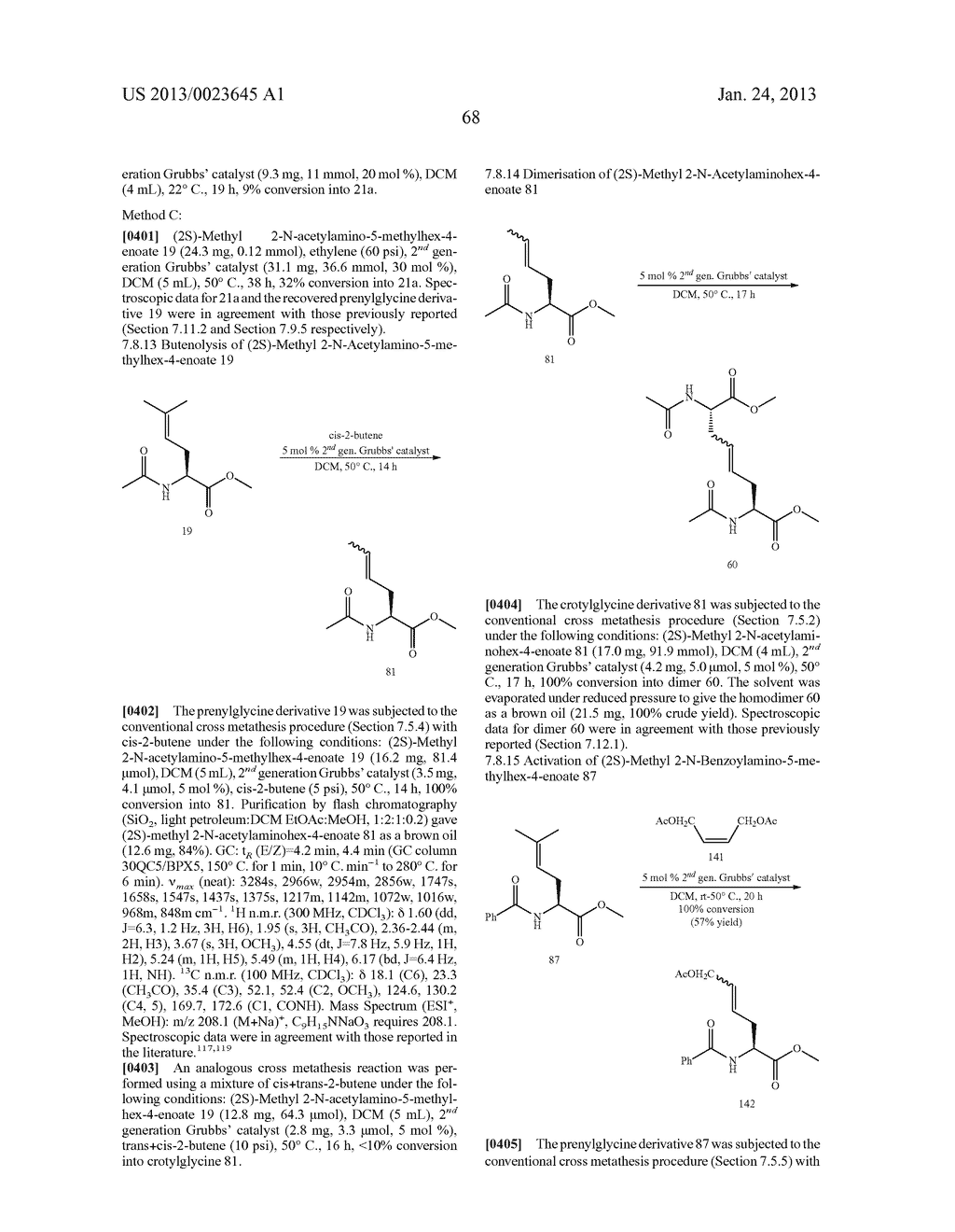 METHODS FOR THE SYNTHESIS OF DICARBA BRIDGES IN ORGANIC COMPOUNDS - diagram, schematic, and image 73