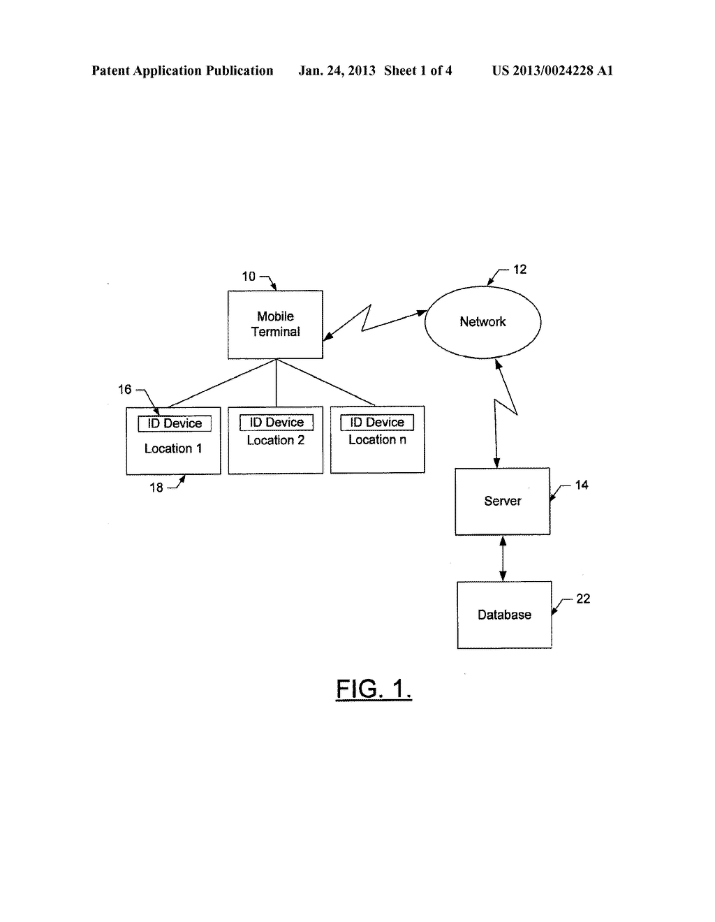 Mobile Terminal, System Computer Program Product, and Method for Updating     a Work Plan - diagram, schematic, and image 02
