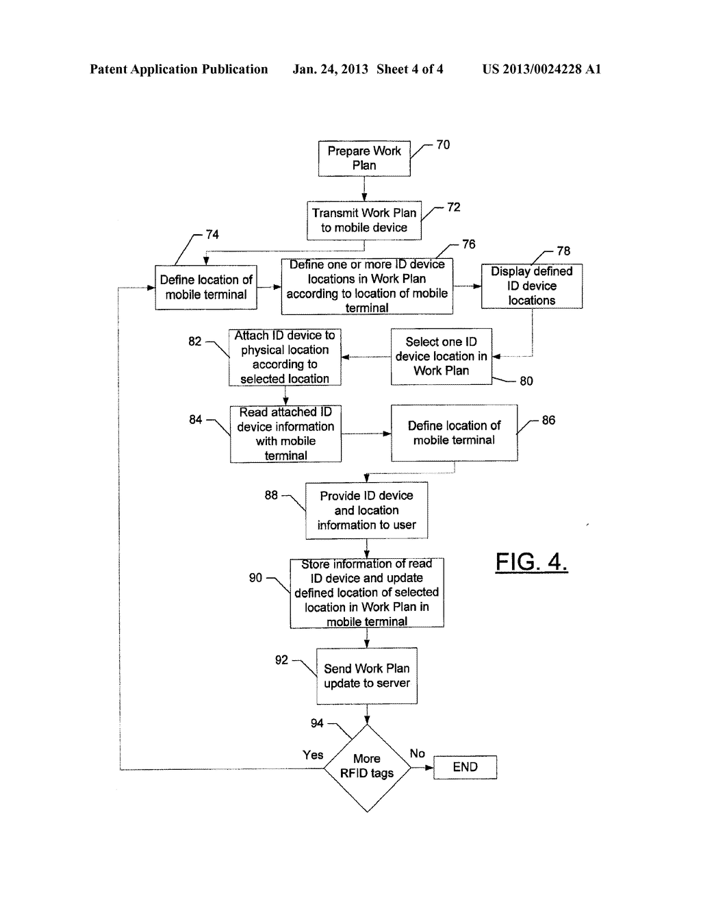 Mobile Terminal, System Computer Program Product, and Method for Updating     a Work Plan - diagram, schematic, and image 05