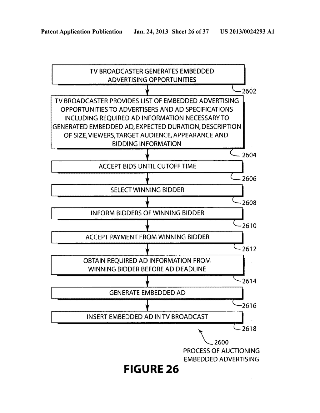 SYSTEM AND METHOD FOR OFFERING AND BILLING ADVERTISEMENT OPPORTUNITIES - diagram, schematic, and image 27