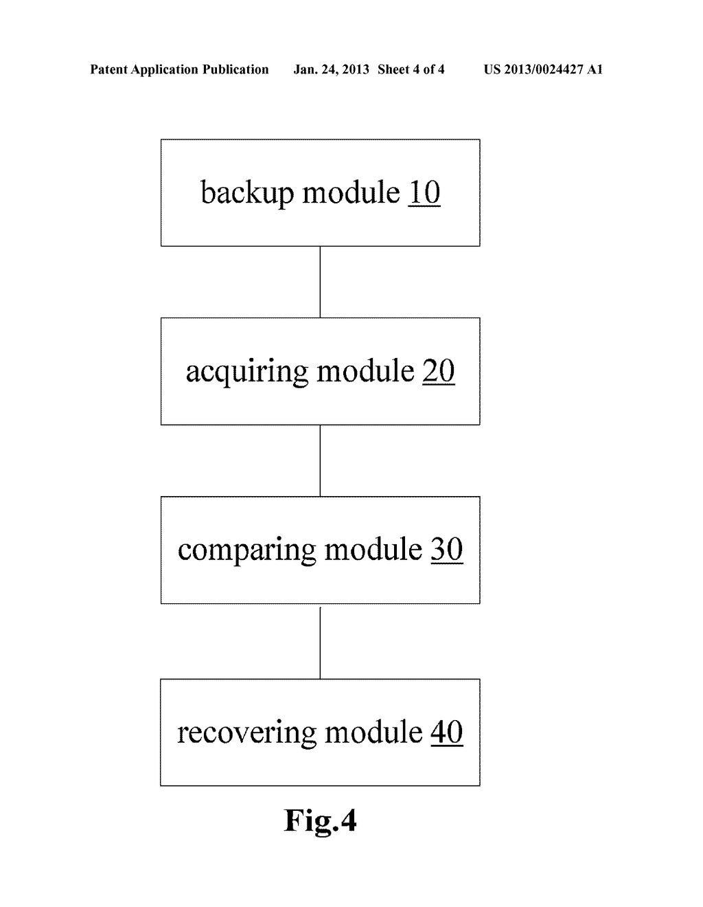 Method and Apparatus for Recovering Database Backup - diagram, schematic, and image 05