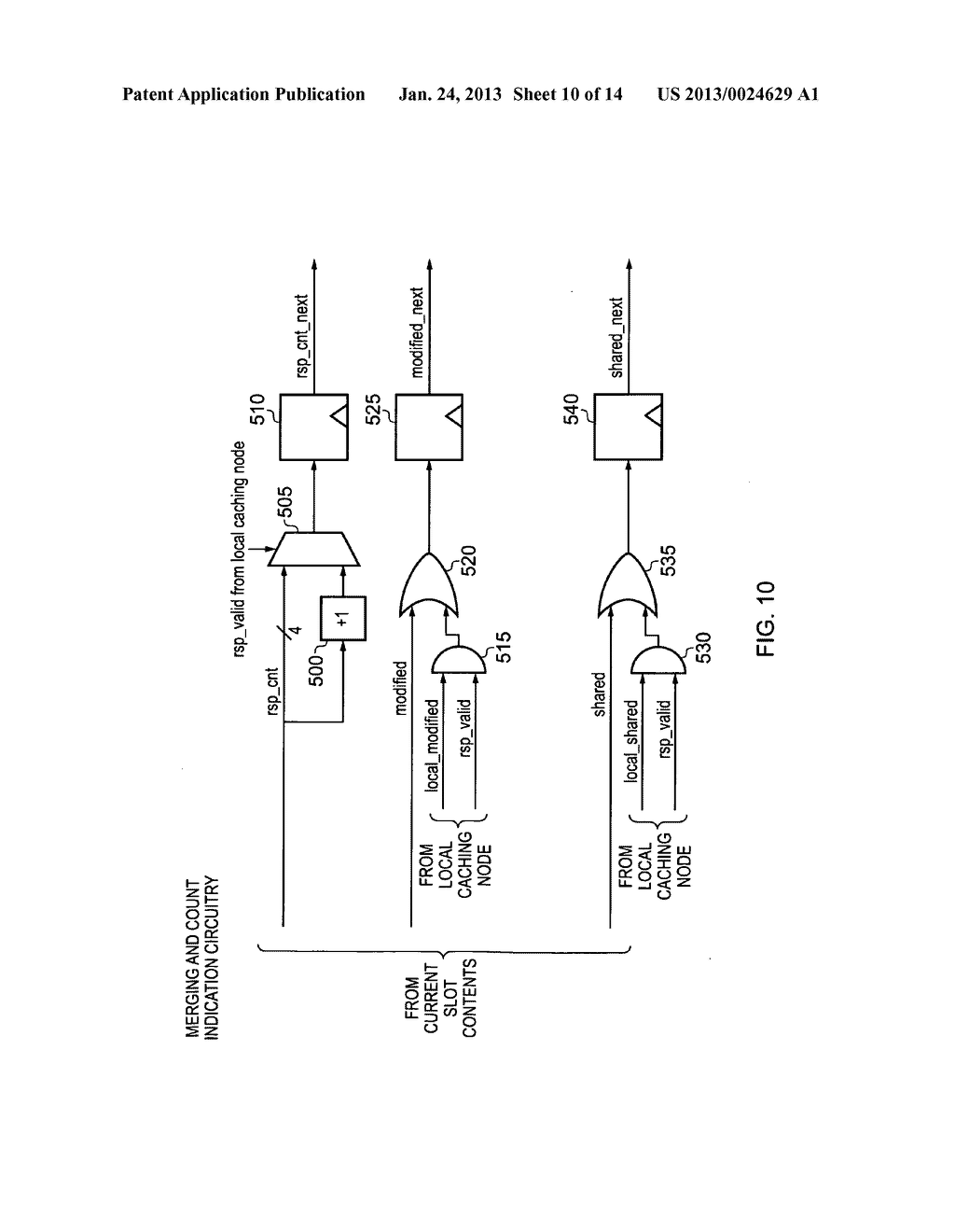 Data processing apparatus and method for managing coherency of cached data - diagram, schematic, and image 11