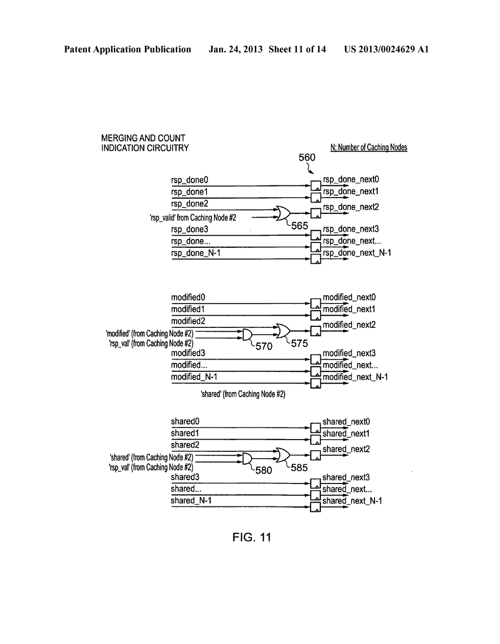 Data processing apparatus and method for managing coherency of cached data - diagram, schematic, and image 12