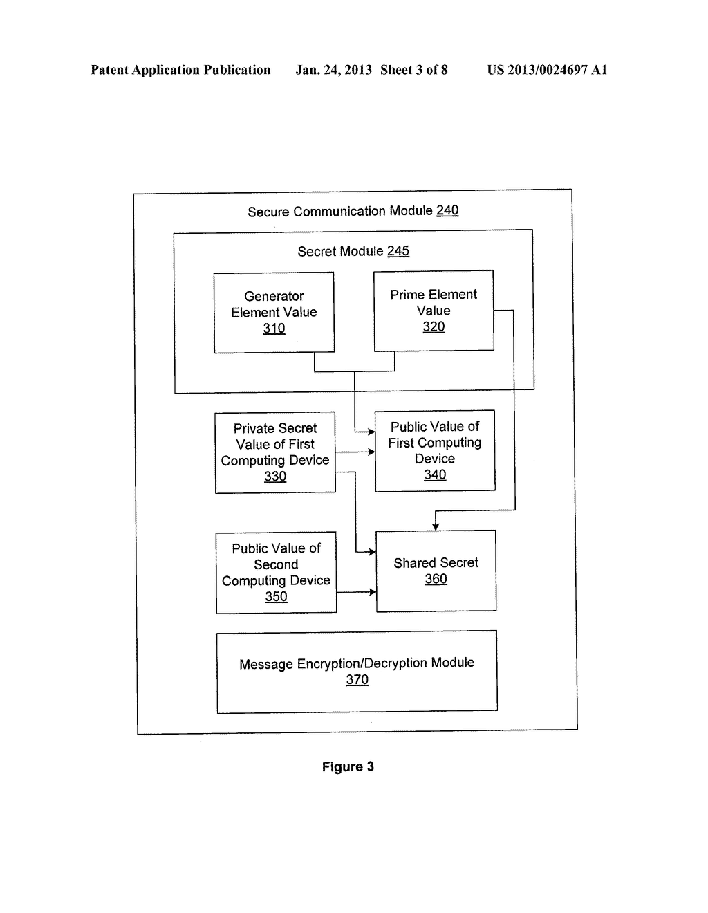 SYSTEM AND METHOD FOR OBFUSCATION INITIATION VALUES OF A CRYPTOGRAPHY     PROTOCOL - diagram, schematic, and image 04
