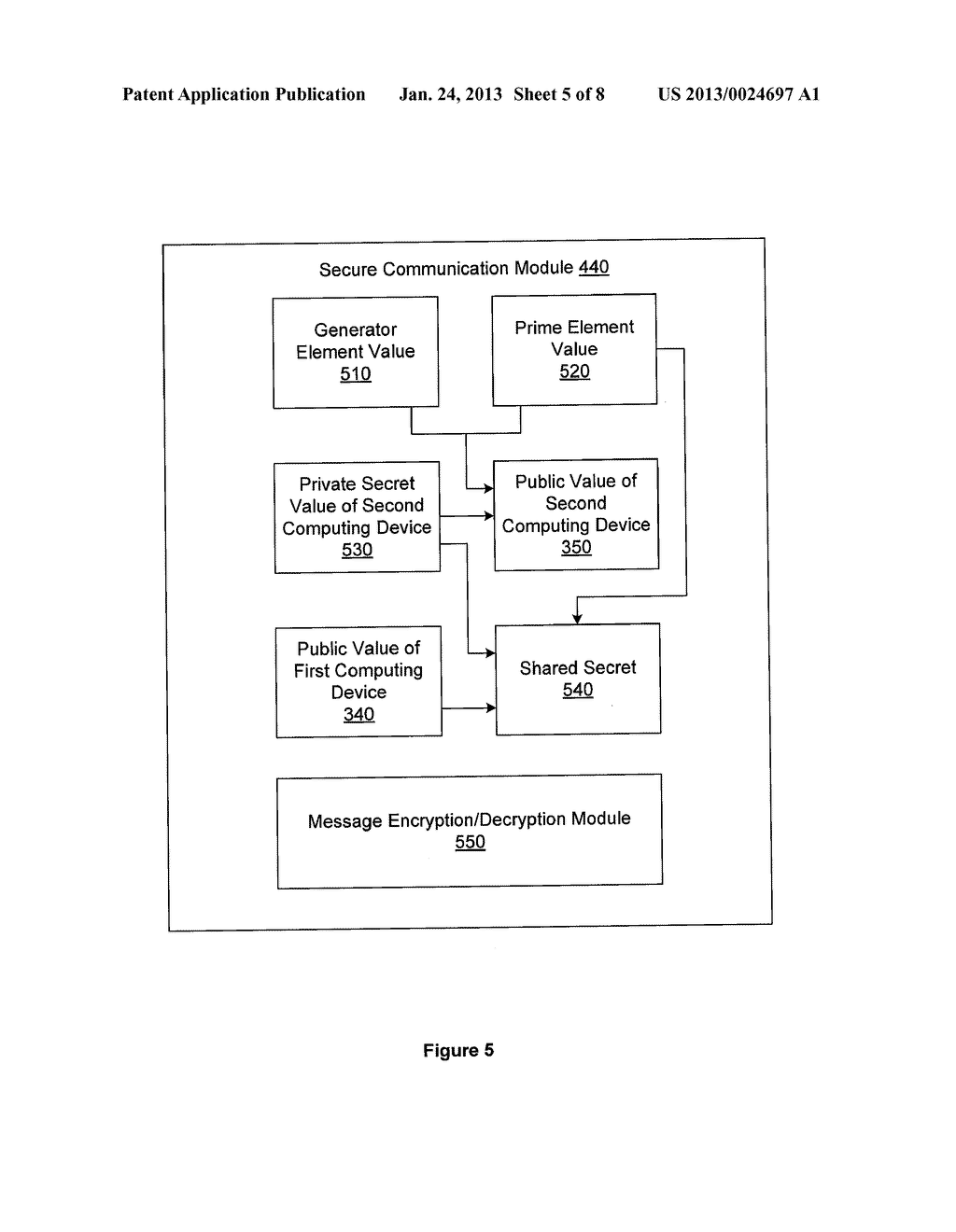 SYSTEM AND METHOD FOR OBFUSCATION INITIATION VALUES OF A CRYPTOGRAPHY     PROTOCOL - diagram, schematic, and image 06
