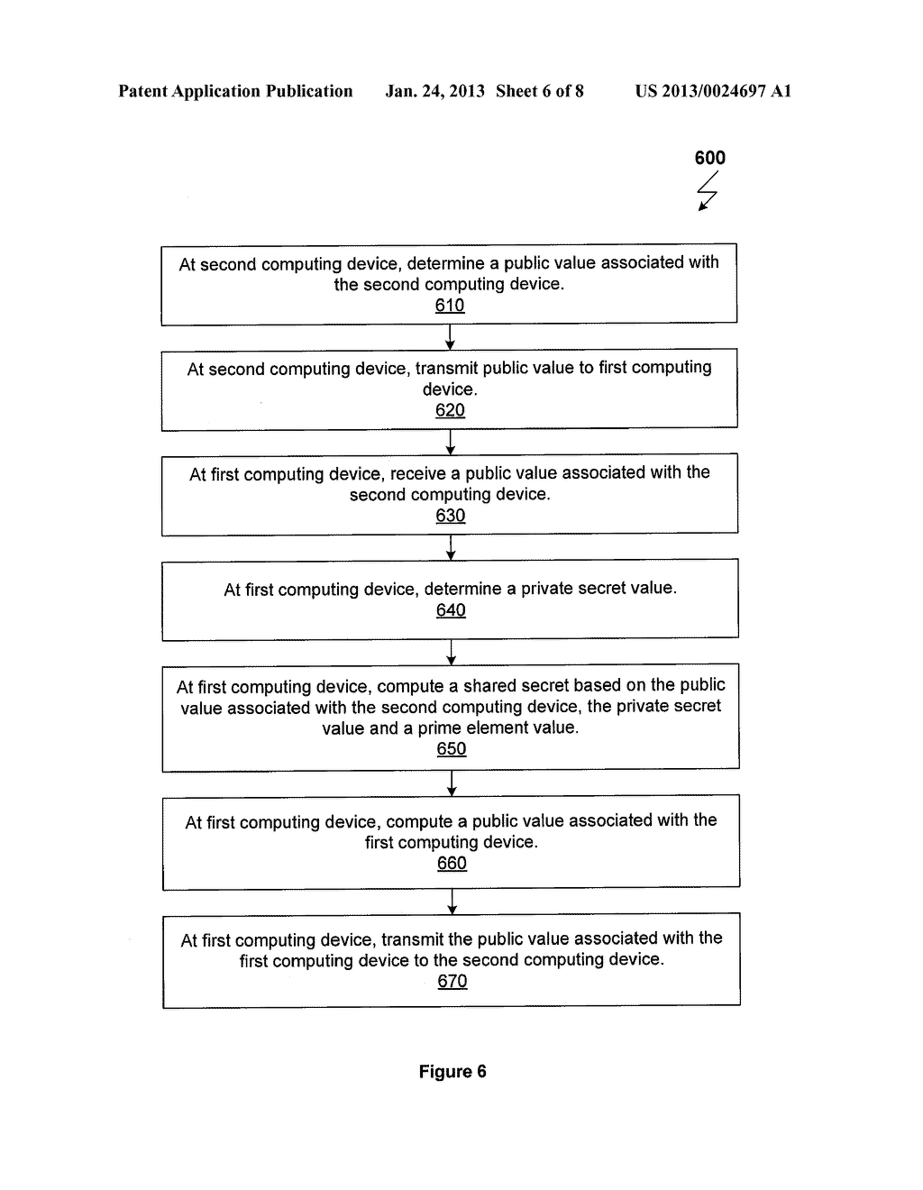 SYSTEM AND METHOD FOR OBFUSCATION INITIATION VALUES OF A CRYPTOGRAPHY     PROTOCOL - diagram, schematic, and image 07