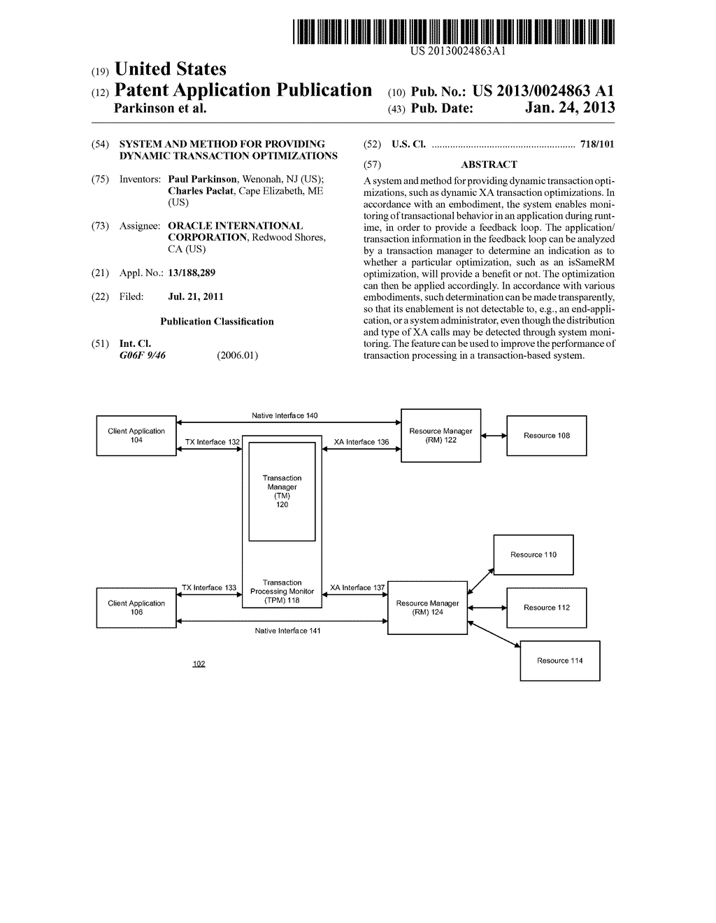 SYSTEM AND METHOD FOR PROVIDING DYNAMIC TRANSACTION OPTIMIZATIONS - diagram, schematic, and image 01