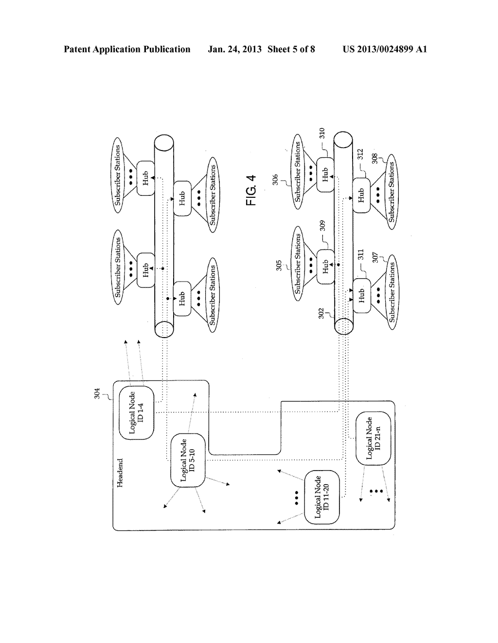 LOGICAL NODE IDENTIFICATION IN AN INFORMATION TRANSMISSION NETWORK - diagram, schematic, and image 06