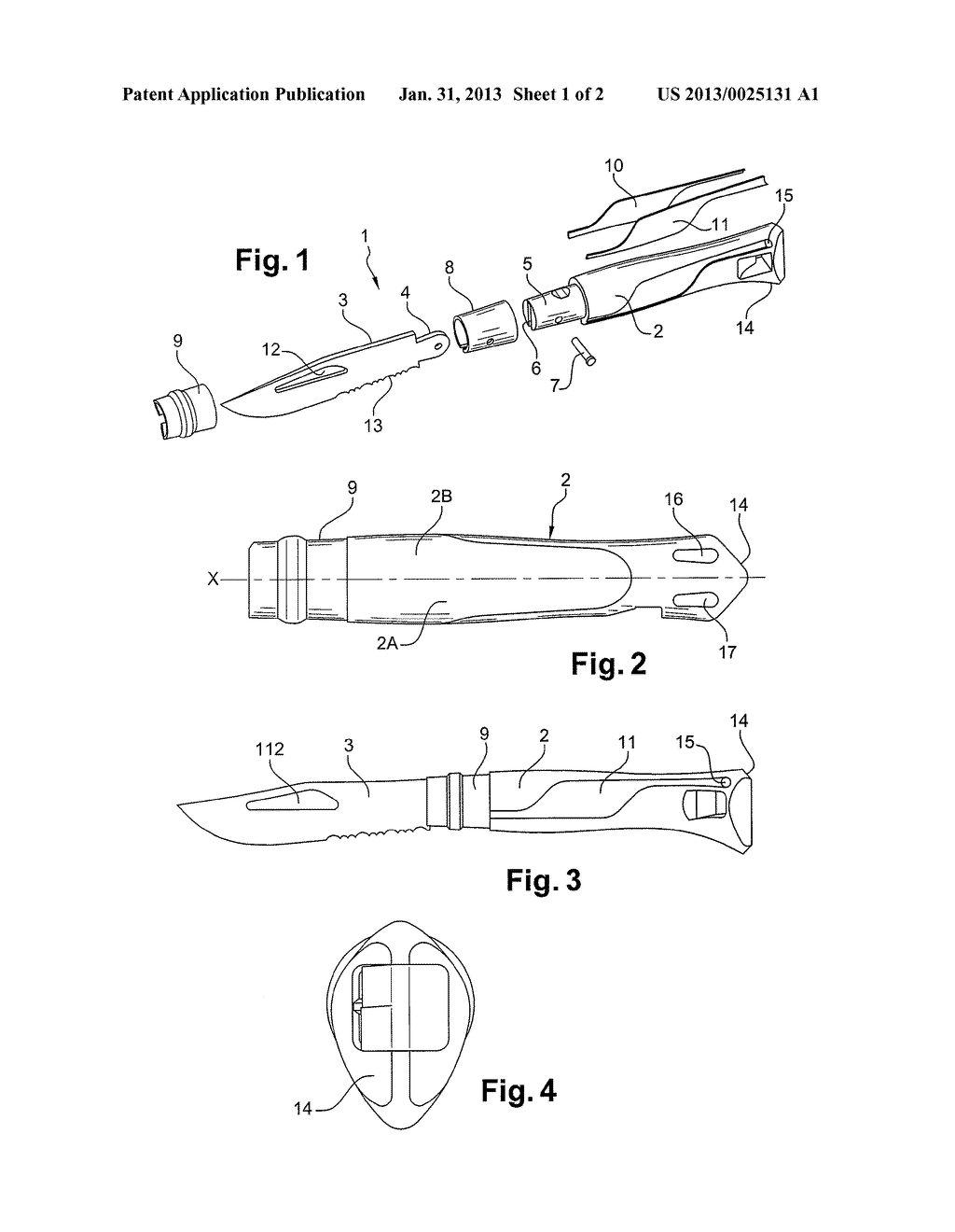 KNIFE WITH SOUND EMITTING MEANS USING THE FLOW OF AIR - diagram, schematic, and image 02