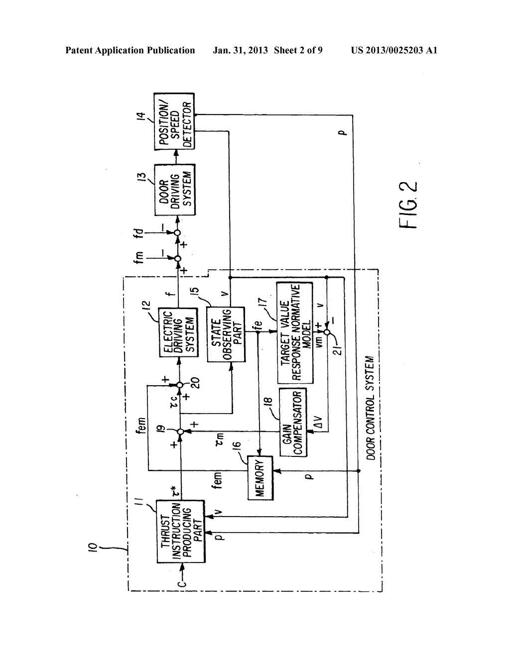 CONTROL DEVICE FOR ELECTRICALLY DRIVEN DOOR - diagram, schematic, and image 03