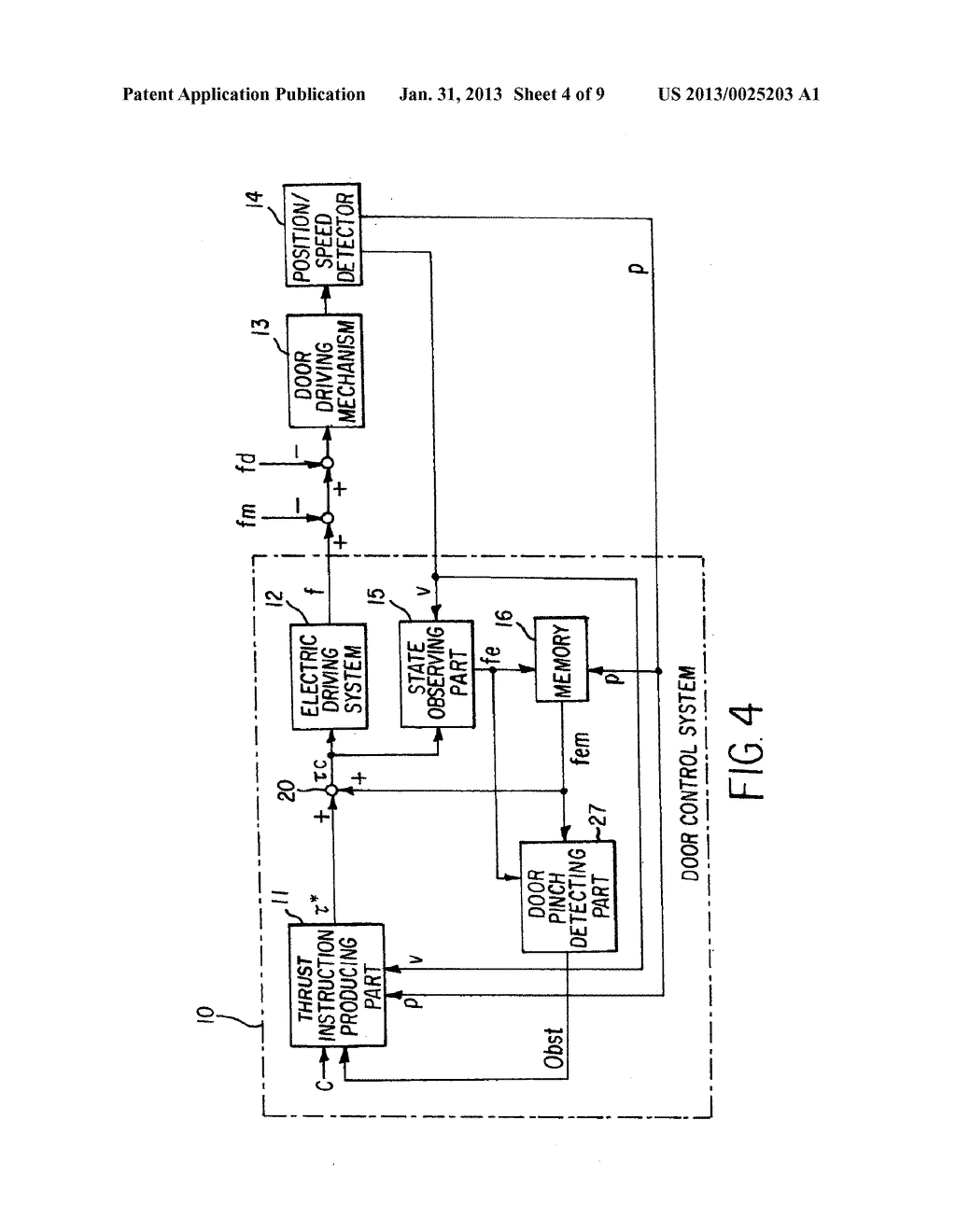 CONTROL DEVICE FOR ELECTRICALLY DRIVEN DOOR - diagram, schematic, and image 05