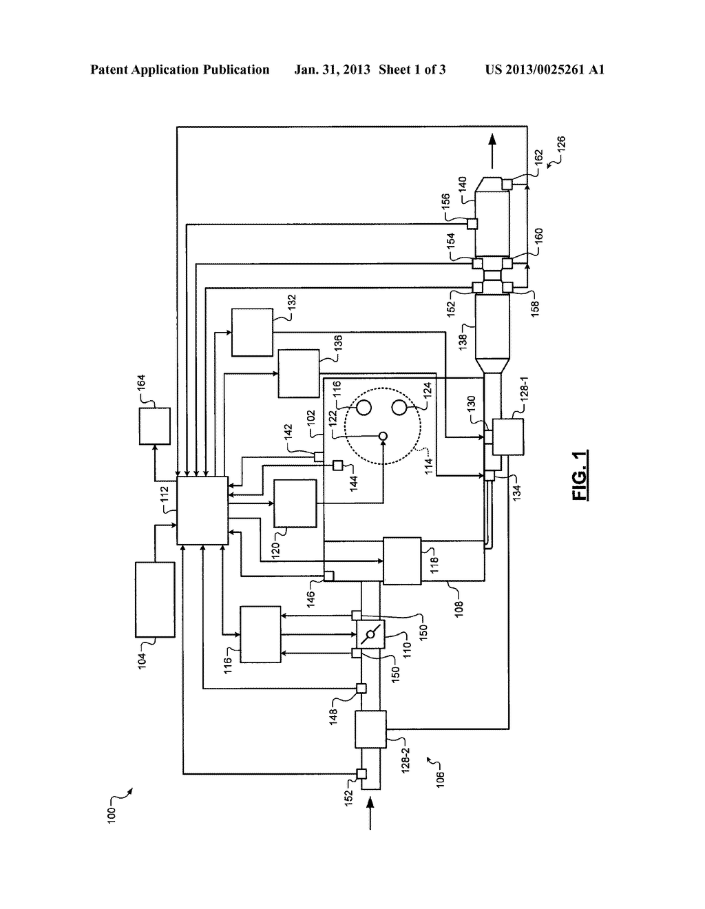 SYSTEM AND METHOD FOR CONTROLLING AMMONIA LEVELS IN A SELECTIVE CATALYTIC     REDUCTION CATALYST USING A NITROGEN OXIDE SENSOR - diagram, schematic, and image 02