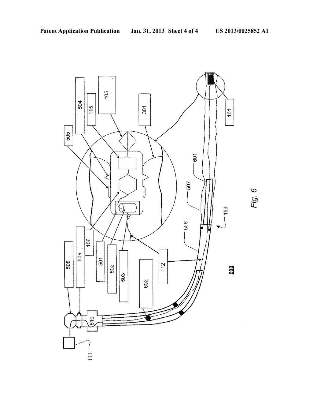 APPARATUS AND SYSTEM AND METHOD OF MEASURING DATA IN A WELL EXTENDING     BELOW SURFACE - diagram, schematic, and image 05