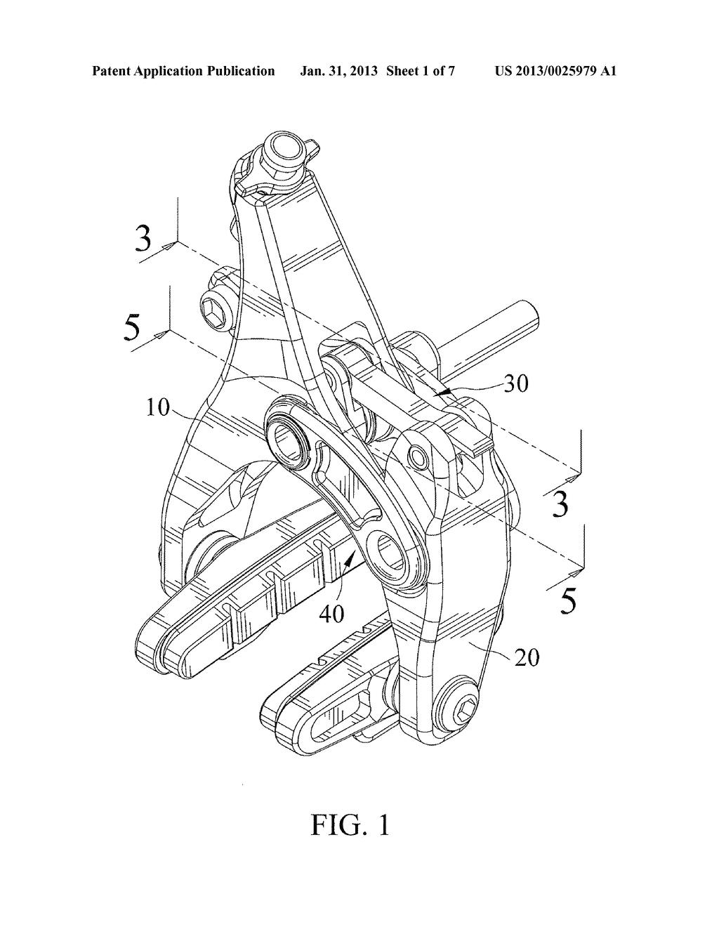 Low Profile Dual Pivot Caliper Brake Diagram Schematic And Image 02