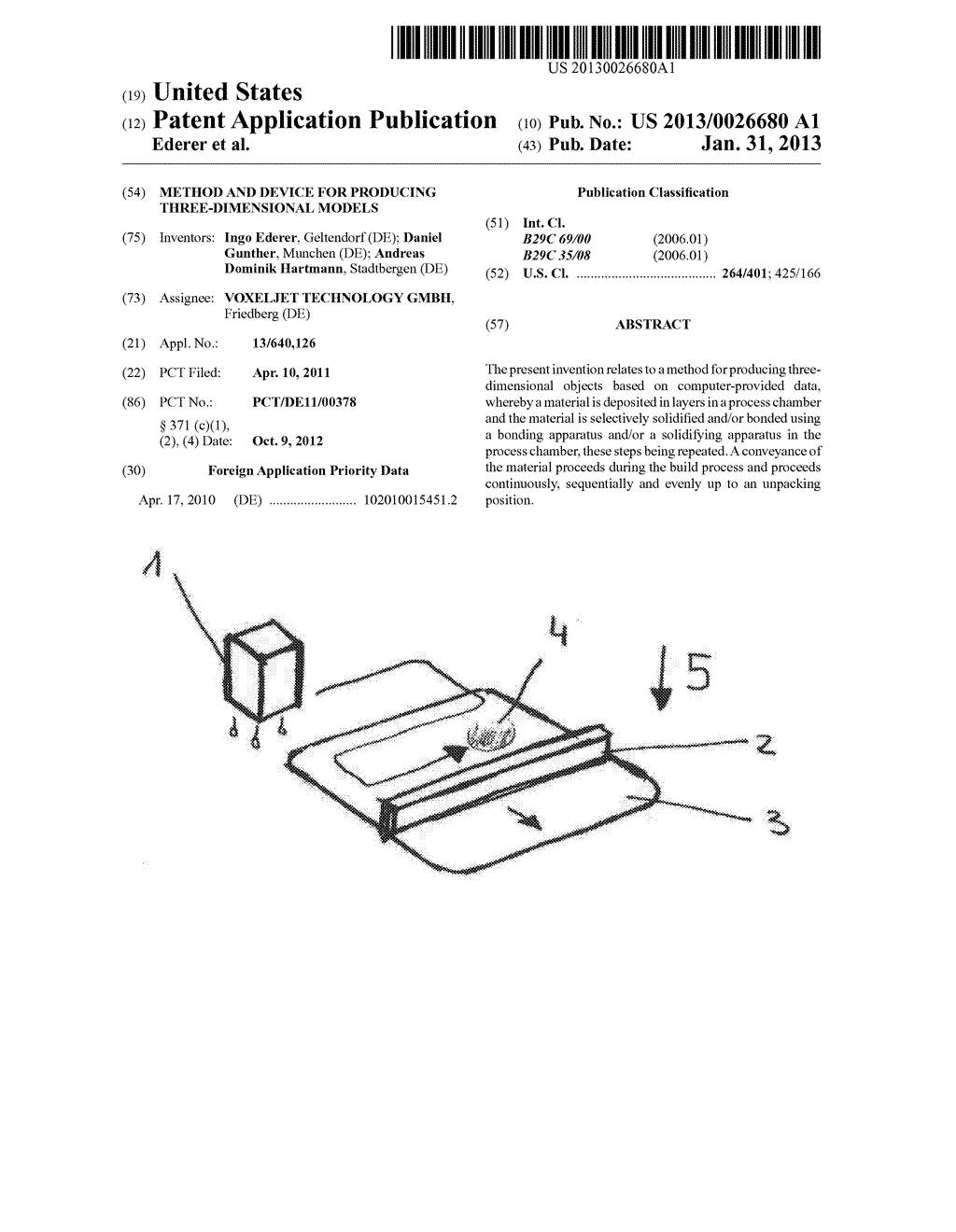 METHOD AND DEVICE FOR PRODUCING THREE-DIMENSIONAL MODELS - diagram, schematic, and image 01