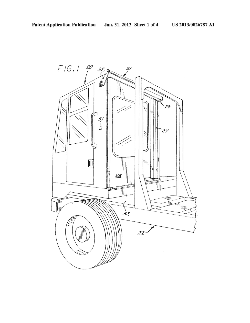 YARD TRACTOR WITH REMOTE CONTROLLED REAR ACCESS DOOR - diagram, schematic, and image 02