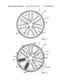 LIGHT-WEIGHT VEHICLE WHEELS WITH CARBON FIBER INSERTS diagram and image