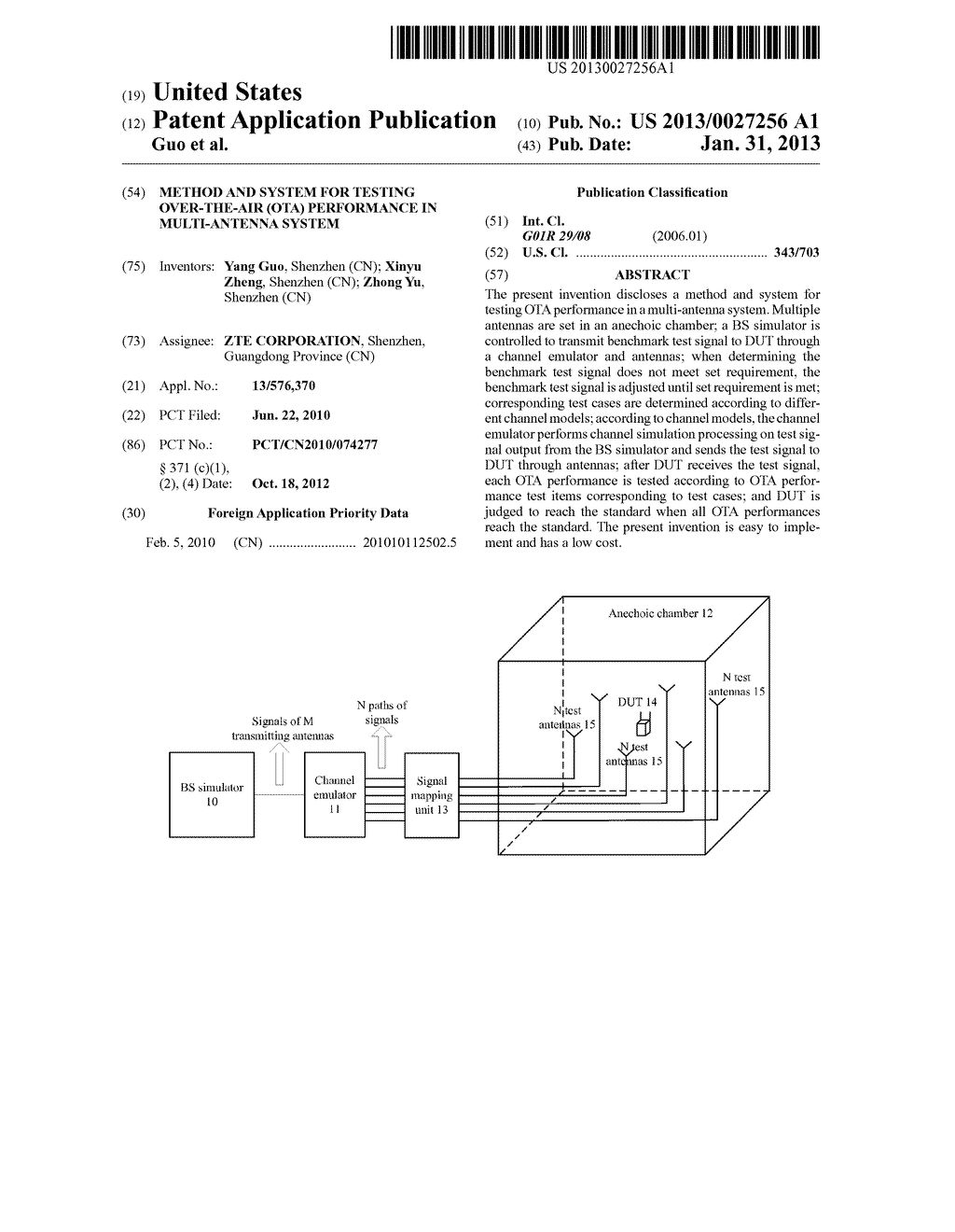 METHOD AND SYSTEM FOR TESTING OVER-THE-AIR (OTA) PERFORMANCE IN     MULTI-ANTENNA SYSTEM - diagram, schematic, and image 01