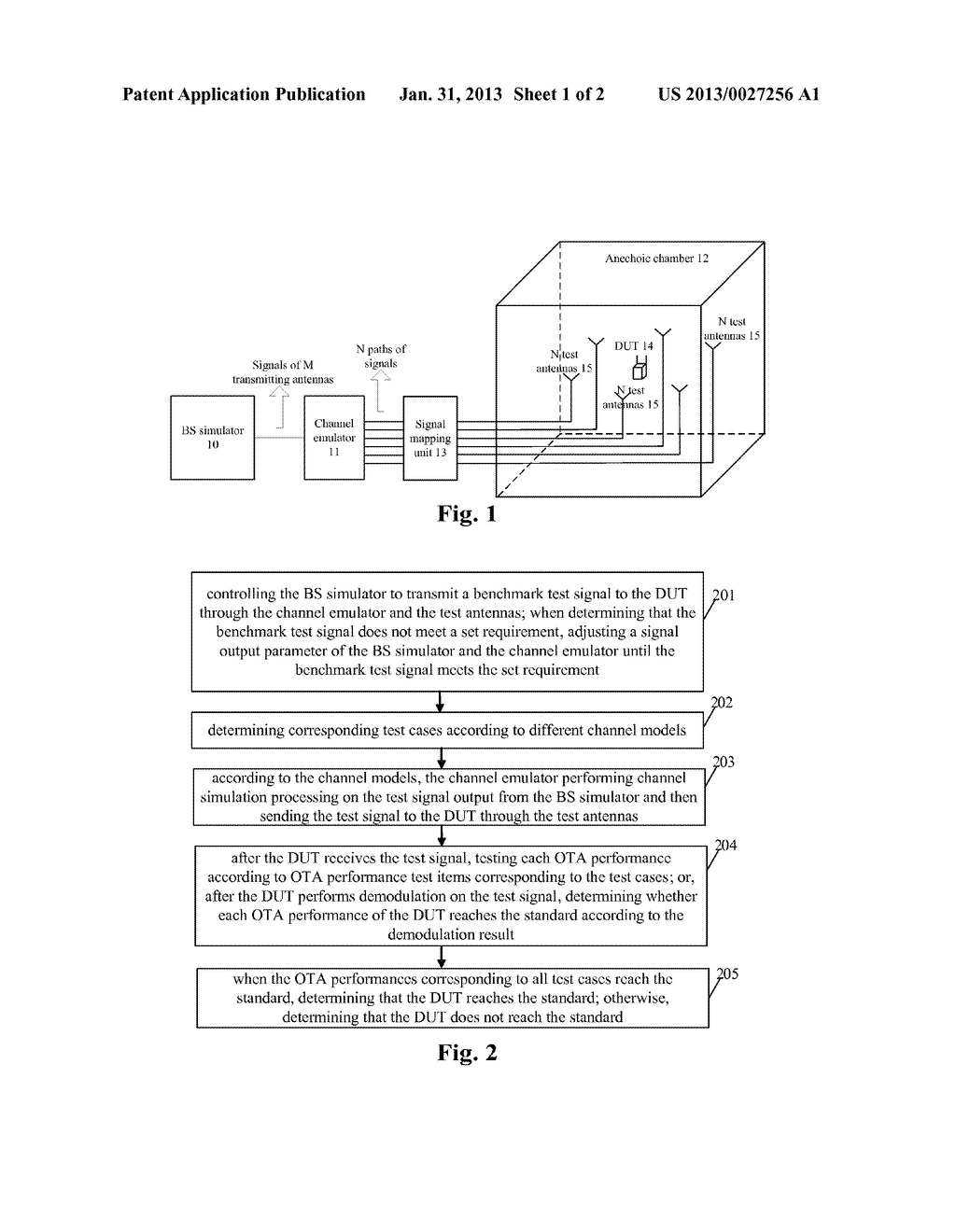METHOD AND SYSTEM FOR TESTING OVER-THE-AIR (OTA) PERFORMANCE IN     MULTI-ANTENNA SYSTEM - diagram, schematic, and image 02