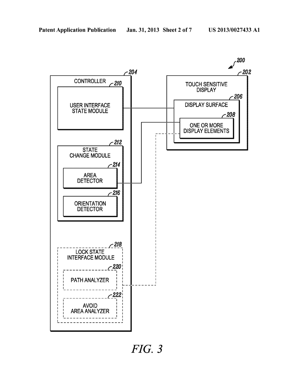 USER INTERFACE AND METHOD FOR MANAGING A USER INTERFACE STATE BETWEEN A     LOCKED STATE AND AN UNLOCKED STATE - diagram, schematic, and image 03