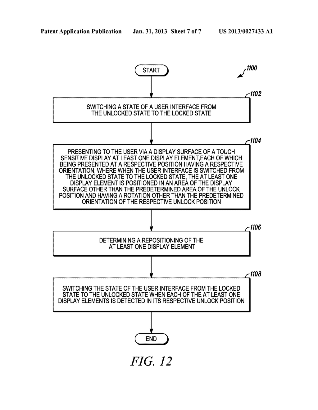 USER INTERFACE AND METHOD FOR MANAGING A USER INTERFACE STATE BETWEEN A     LOCKED STATE AND AN UNLOCKED STATE - diagram, schematic, and image 08