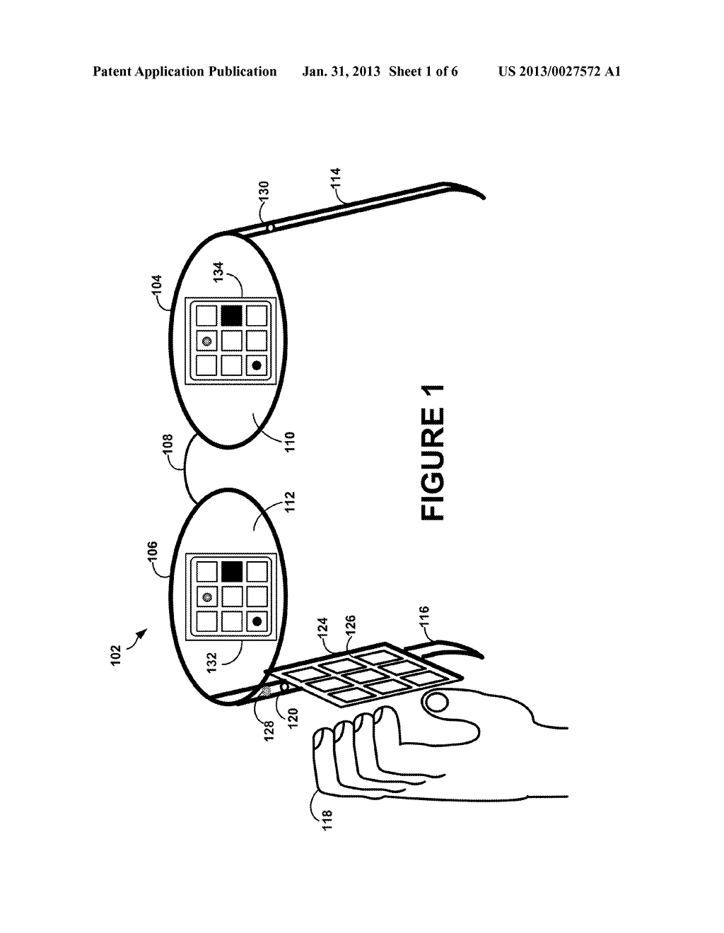 Head-Mounted Display That Displays A Visual Representation Of Physical     Interaction With An Input Interface Located Outside Of The Field Of View - diagram, schematic, and image 02
