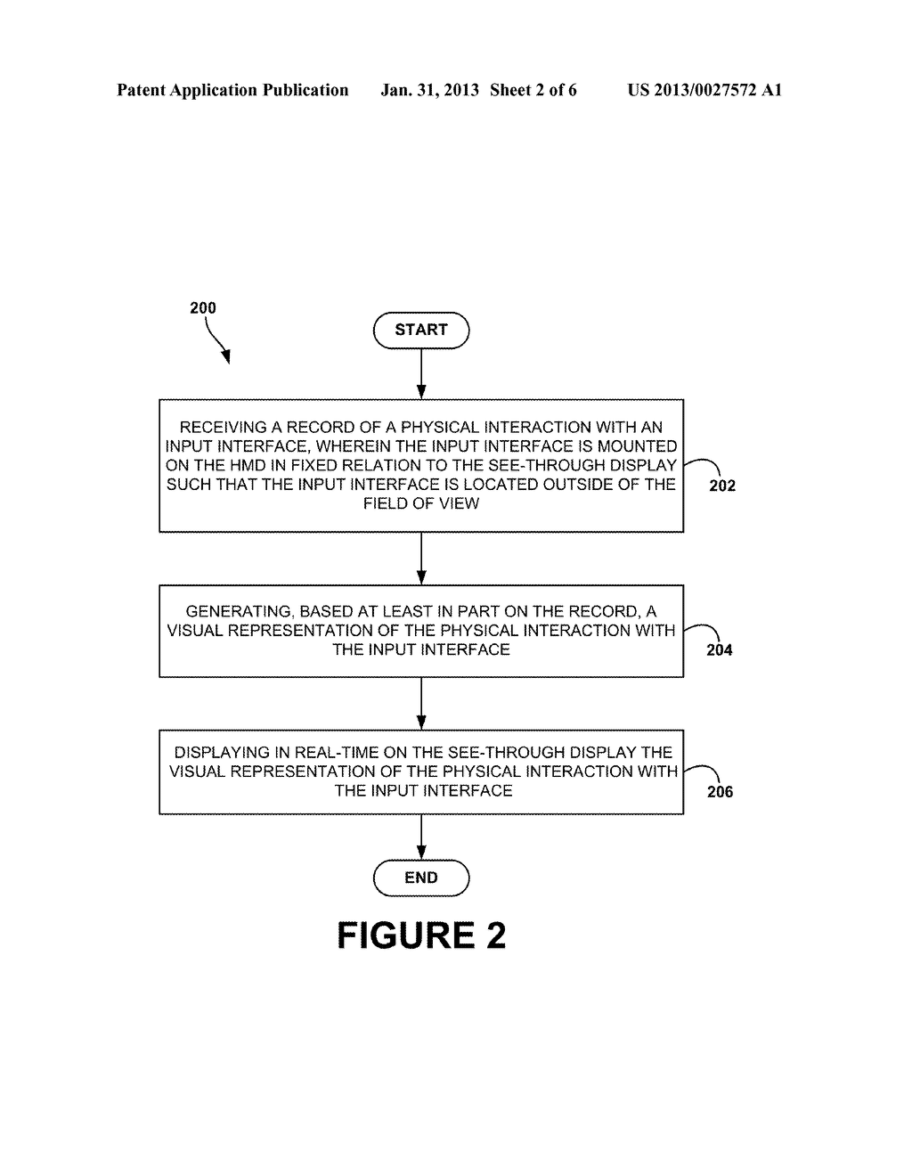 Head-Mounted Display That Displays A Visual Representation Of Physical     Interaction With An Input Interface Located Outside Of The Field Of View - diagram, schematic, and image 03